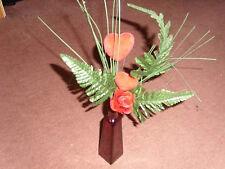 03 ) Blumenvase  Vase  Rot mit Blumen mit Herz