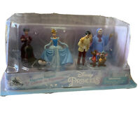 NEW Disney Store Cinderella Figurine 6 pcs Play Set Cake Topper Play Figurines
