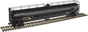 Atlas HO Scale ACF 33,000 Gallon Tank Car CNTX (Black/No Logo) #1212