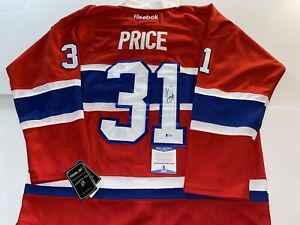 CAREY PRICE Montreal Canadiens SIGNED Autographed JERSEY w/ Beckett BAS COA