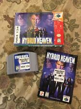 N64 Hybrid Heaven (Nintendo 64, 1999) Complete In Box Tested !!