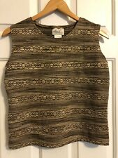 Kathie Lee Sleeveless Crop Top, Size M. Excellent Condition.