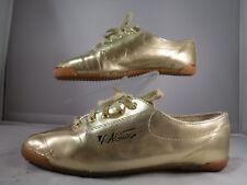 FC11 VTG '92 LA Gear Metallic Gold Aerobic Flat Sneaker Lace Up Shoes 6.5