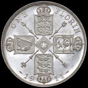 George V, 1911-36. Proof Florin, 1911.
