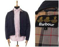 Mens BARBOUR Spring Blouson Harrington Jacket Navy Blue Size L