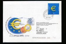 Duitsland 2002 envelop met kaart invoering Euro op postzegels