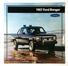 1987 Ford Ranger Pickup Truck Showroom Sales Booklet Dealership Catalog Brochure