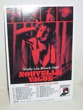 NOUVELLE VAGUE BANDE A PART PROMO MUSIC CONCERT TOUR AD POSTCARD 2006
