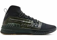 Men's Under Armour Project  Rock 1 Shoes Sz 9.5 Black & Green 3020788-002