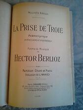Partition ancienne poème lyrique La prise de Troie, Choudens