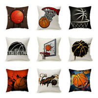 CW_ Basketball Print Square Pillow Case Cushion Cover Sofa Bed Home Decor Eyeful