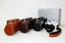 leather case bag grip cover for Pentax K-50 K50 SLR camera 18-55mm 18-135mm lens