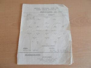 Arsenal V Wolves Single Paged Football Programme F.A.Youth Cup 4th Rnd