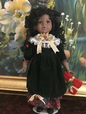 """Genuine 18"""" Hand-Crafted Bisque Porcelain Doll From The Ashley Belle Collection"""