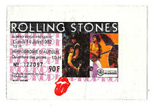 ROLLING STONES TICKET ORIGINAL CONCERT PARIS, HIPPODROME AUTEUIL 14 JUIN 1982