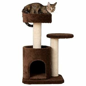 """Armarkat F3005 Pet Cat Condo Scratcher with Bottom House Coffee Brown 28""""L X2..."""