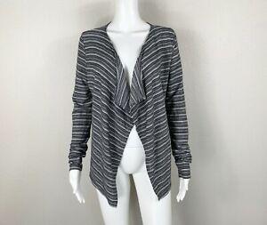 SMARTWOOL Horizon Line Wrap Cardigan Sweater Stripe Merino Wool Blend Small NTSF