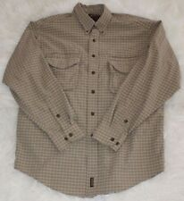 Woolrich John Rich Bros Men Vented Hiking Fishing L/S Shirt Brown Checkered