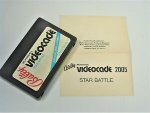 NTSC Bally Astrocade Videocade Star Battle with Manual Video Game System