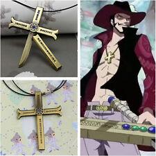 Japan Anime One Piece Cosplay Prop Hawk Eyes Mihawk Cross Knife pendant Necklace