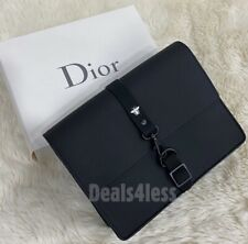 DIOR Bee Pouch Makeup Case Organizer Bag Black Lined Lobster Closure Gift Set
