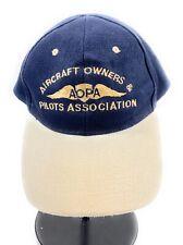 dd807bfb8610dc Aircraft Owners & Pilots Association Baseball Cap Hat Navy Blue Khaki  Strapback