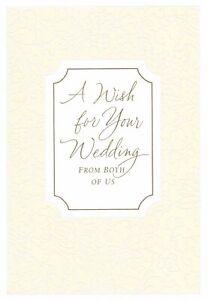Congratulations A Wedding Wish Ivory and Gold Theme Hallmark Greeting Card