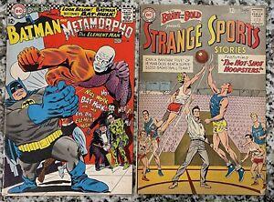 Silver Age DC Lot - Brave And The Bold 46 & 68 Strange Sports Batman Metamorpho