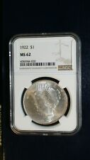 1922 P Peace Silver Dollar NGC MS63 UNCIRCULATED $1 COIN Starts At 99 Cents!