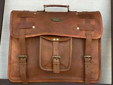 Men's Genuine Italian Leather Vintage Laptop Messenger Handmade Bag Satchel Bag