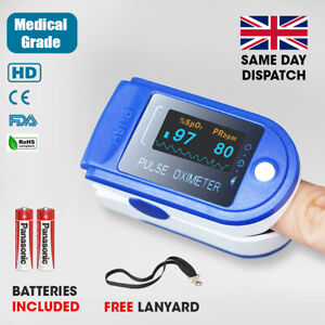 SMART MEDICAL GRADE PULSE OXIMETER HD HEART RATE MONITOR OXYGEN SATURATION