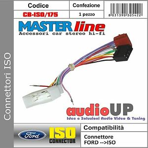 CONNETTORE ISO AUTORADIO ORIGINALE PER FORD FIESTA DAL 2003 AL 2005 - MASTERLINE