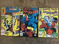 Marvel Tales Featuring Spider-Man Lot Of 3 #237, #239, #240 X-men