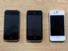 Apple iPhone 1st 8Gb At&T A1203 3G 32Gb A1304 4S 64Gb A1387 Unlocked Bundle Lot