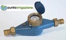 """Contatore acqua in ghisa filettato 1""""1/4 + raccordi in ottone uso irriguo pozzi"""