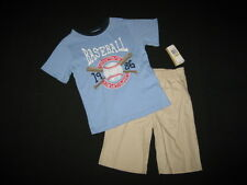 "NEW ""BASEBALL CHAMP"" Shorts Boys Clothes 5 Spring Summer Kids School Boutique"