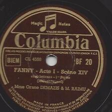 Hörspiel  - Orane Demazis + M. Raimu aus dem Film Fanny : Les lettres