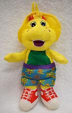 Original Barney Bath Time Fun BJ yellow dinosaur swimsuit toy doll plush