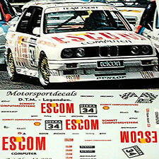 BMW M3 E30 DTM Escom #34 O.Manthey 1:24 Decal Abziehbilder
