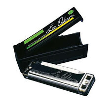 LEE OSKAR NATURAL MINOR 1910N KEY OF Bbm 10 HOLE HARMONICA+FREE HOHNER MINI 38-C