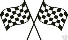 Checkered Flag Racing Race Flag Nascar JR STICKER DECAL