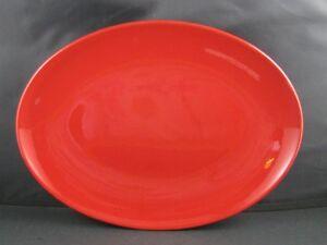 """Cherry Red Oval Serving Platter 13"""" Waechtersbach German Stoneware New"""