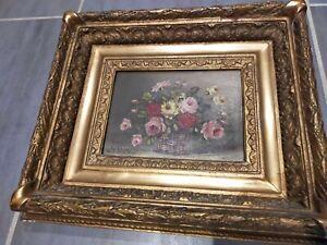 Tableau Bouquet de Fleurs,  Signé