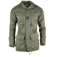 Original French army Olive OD jacket fatigue combat military parka sateen