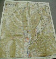 Hofmann/Hg Relief-Karte Wanderwege Oberstdorf im Allgäu und Umgebung ~1965 kt.