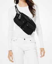 Michael Kors Bag Fanny Pack Olivia LG Studded Belt Bag Waistpack Black New