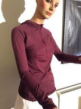 Lululemon Running Swiftly Tech Hooded 1/2 Zip Long Sleeve Top UK10
