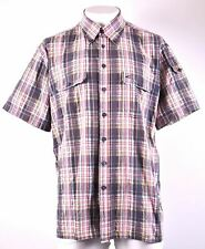 CAMEL Mens Shirt Short Sleeve 2XL Multicoloured Check Cotton MM11