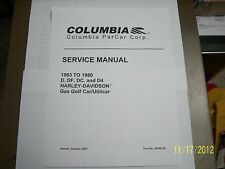 Harley Davidson Gas golf cart Service Repair & Parts manual 1963 - 1980 on disc
