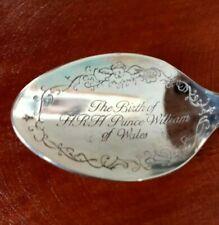 Prince William Silver Plated Souvenier Spoon